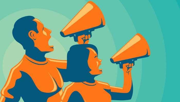 Foto de Día Mundial de la Voz: profesionales que hablan alto y claro