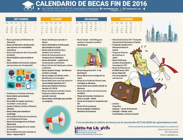 Foto de Un calendario de becas para terminar bien 2016
