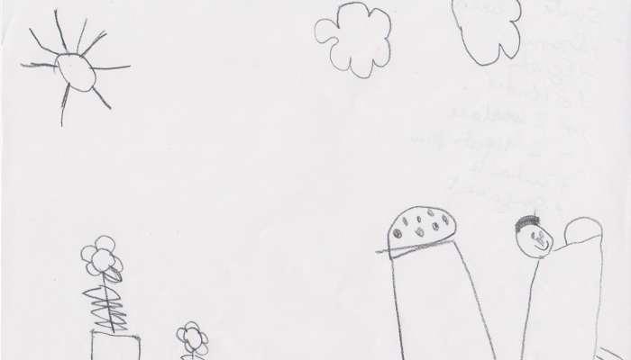 Foto de Los niños tienden a expresar sus ideas dibujando formas geométricas