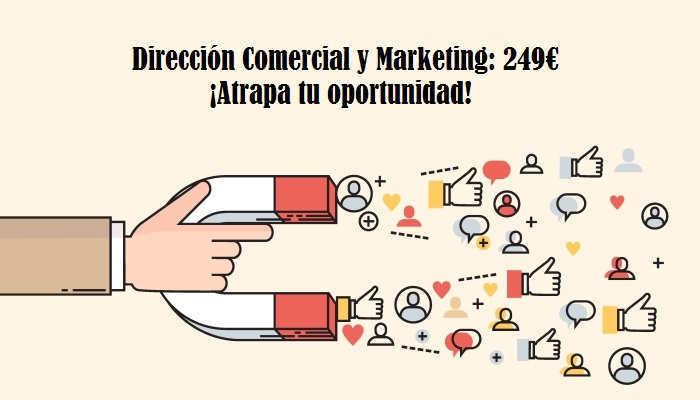 Foto de Atrapa esta oportunidad: Máster en Dirección Comercial y Marketing por 249€