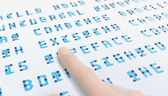 Foto de El Braille se reinventa para ser comprensible por todos