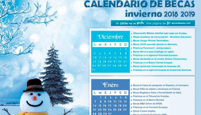 Foto de Calendario de Becas de Invierno: el frío llegó, las becas también
