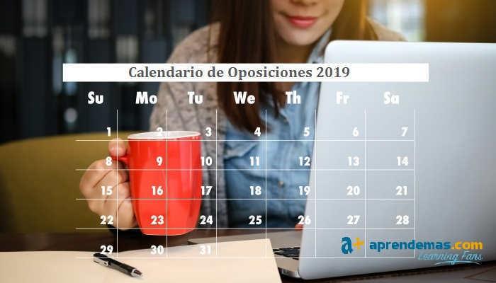 Foto de Calendario de Oposiciones 2019: un año repleto de plazas de Empleo Público