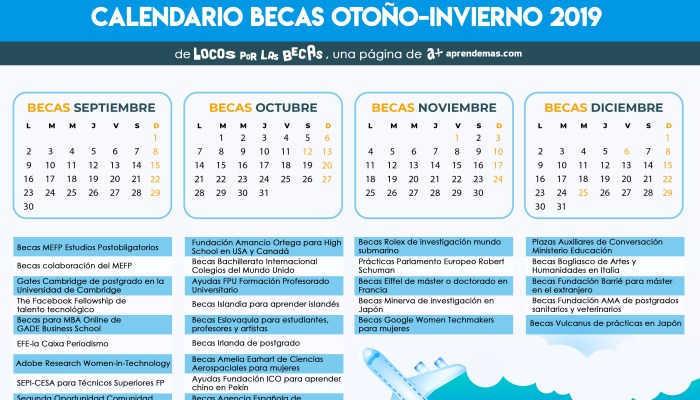 Foto de Calendario de Becas Otoño-Invierno: época de grandes oportunidades