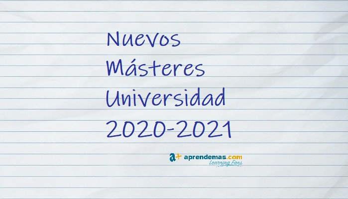 Foto de Los nuevos másteres que llegan en el curso 2020-2021